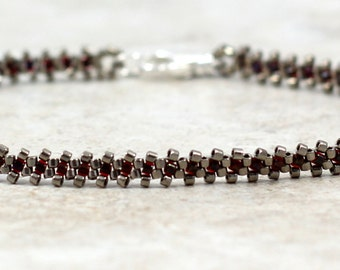 Seed Bead Anklet - Beaded Chain - Ankle Bracelet - Beadwork Jewelry - Summer Jewelry - Beach Anklet