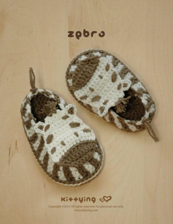 Häkelarbeit-Muster Zebra Baby Booties Zebra Preemie Socks