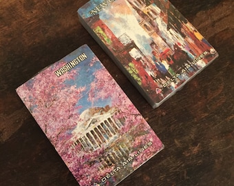 Vintage New Orleans and Washington D.C. Delta Air Lines Playing Cards | Two Decks Sealed