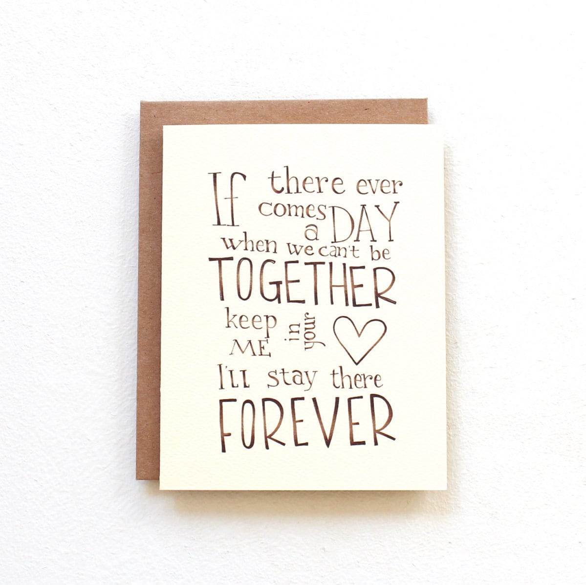 Winnie The Pooh Quote Card If There Ever Comes A Day Wedding