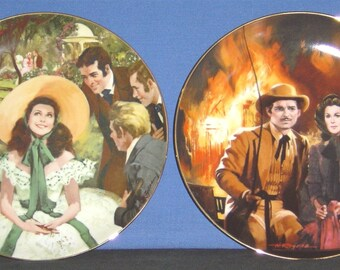 Complete Set of 12 'Gone with the Wind' Collector Plates - NEW (SS)