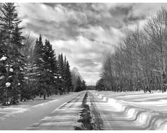 Road, winter, photography print, landscape, snowscape, framed photographs, wall art