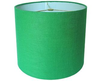 Custom Lamp Shade   Green Lampshade   Robert Allen Linen In Malachite    Linen Lamp Shades