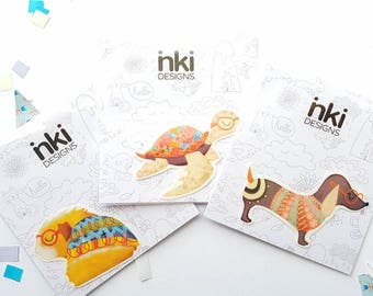 Temporary Animal Tattoos - PICK THREE - Gift him or her