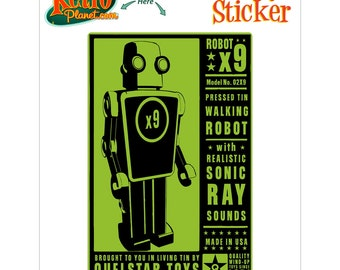 Robot X9 Toy Lunastrella Vinyl Sticker - #64405