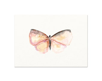 Watercolor Butterfly Art Print.  Pink Butterfly Watercolor Wall Art.  Baby Nursery Decor. Baby Girl Wall Art. Gift for Her. Garden Art.