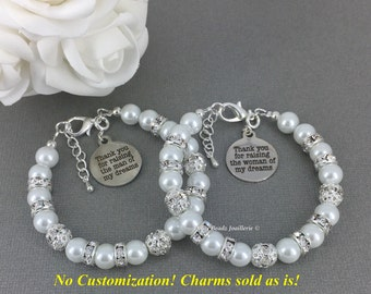 Gift for Moms Pearl Bracelet Mother of the Bride Bracelet Mother of the Groom Bracelet Mother in Law Gift Pearl Jewley