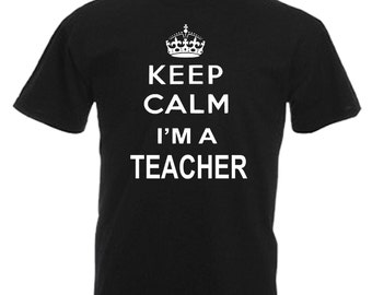 Teacher Gift Adults Mens Black T Shirt Sizes From Small - 3XL