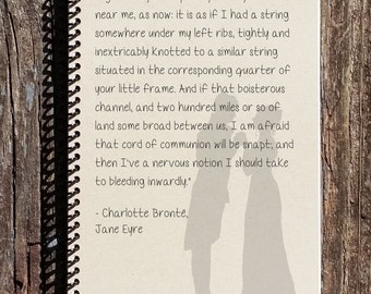 Jane Eyre Journal - Jane Eyre - Mr Rochester String Quote - Mr Rochester Notebook