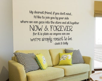 More Colors. Sally And Jack Wall Decal Inspirational Quotes Love Vinyl  Decal Nightmare Before Christmas  148