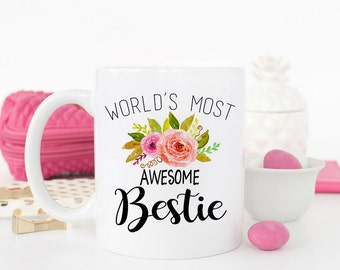 Best Friend Mug, Awesome Bestie, Best Friend Gift, Gift for her, Gift for friend, Birthday gift for Bestie, BFF, Best Friends Mug, Bestie