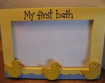 MY FIRST BATH - photo picture frame