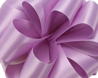 """1.5"""" Double Face Satin Ribbon -Orchid--your choice of length"""