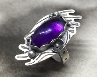 Loekr beloved amethyst and sterling statement ring