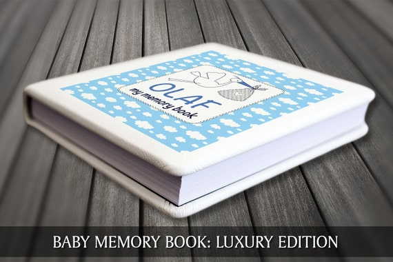 Baby boy memory book. Personalised baby book book, Baby first year book, Baby boy record book, Blue baby boy journal, Blue baby boy diary