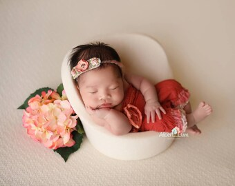 Newborn Headband, Newborn Tieback, Baby Headband, Baby Photo Prop