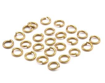 6mm Jump Rings - 250 Raw Brass Jump Rings (6x1mm) A0357