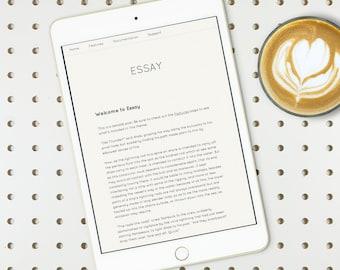 Responsive WordPress theme, minimalist : Essay