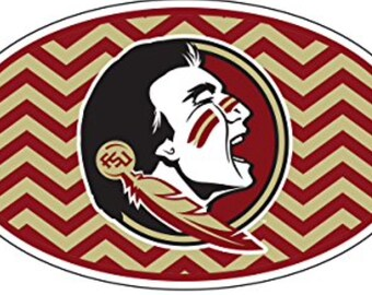 "Florida State Seminoles 6""  Die-Cut Vinyl Chevron Logo Decal"