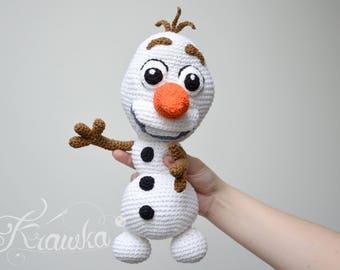 Crochet PATTERN No 1733 Frozen Snowman pattern by Krawka,