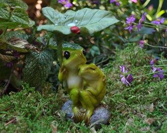 Frog Lovers Cuddling