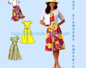 Simplicity 1797 Womens Cropped Jacket & Dress w Flared Skirt 6 8 10 12 14 Fun Flirty Feminine Spring Summer Sewing Pattern Uncut FF