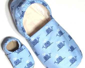 Blue Whale Adult Slippers (with matching baby if you'd like!)