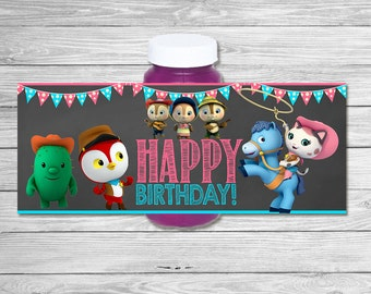 Sheriff Callie Bubble Label Chalkboard / Sheriff Callie Wild West Birthday Party / Sheriff Callie Party Favors / Sheriff Callie Bubbles