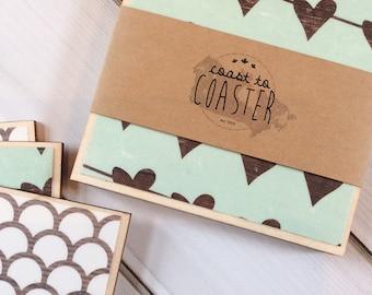 Valentine Decor, Heart Decor, Heart Home Decor, Heart Coasters, Valentine Coasters, Wooden Coasters, Wood Coaster Set, Wood Coasters, Tile C