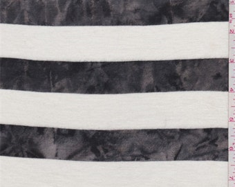Ivory/Black Marble Stripe T Shirt Knit, Fabric By The Yard