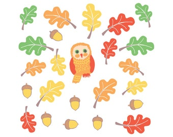 Fall Wall Decals - Fall Leaves Wall Decals