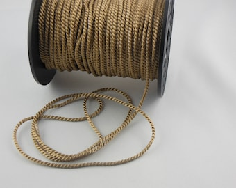 Soutache beige twisted cord