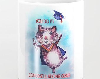 Guinea pig mug Congratulations Congrats New Job Graduation Gift Graduating High School College Graduate Grad Her Him Friend kindergarten
