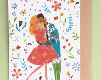 Couple in love | Greeting card