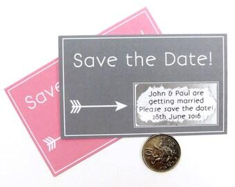 Save The Date Scratch Card