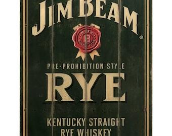 Jim Beam Rye Weathered Pub Sign