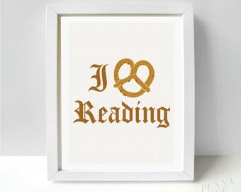 I Pretzel Reading Print