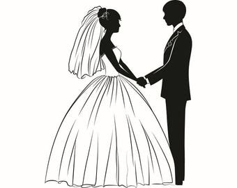 Wedding Gown Drawing Etsy