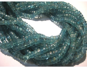 Blue Apatite, Blue Apatite Tyre Rondelles, 5mm Beads, High Quality Gemstone Beads