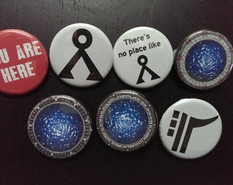 "Stargate magnets - 1.25"" / 32mm fridge magnets [Symbols collection] SG1, SGA, SGU"