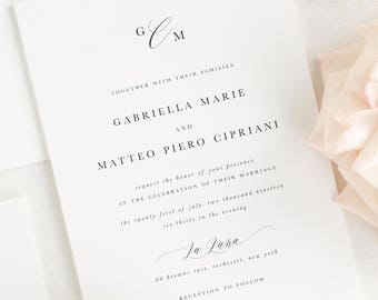 Gabriella Wedding Invitations - Sample