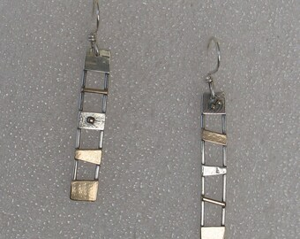 Mixed  Metals Ladder Earrings