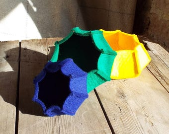 Set of 3 Nesting Felt Bowls