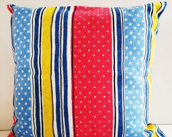 Striped pillow cover/14 inch pillow cover/patio pillow covers/polka dot pillow /decorative pillows/throw pillow cover/toss pillows