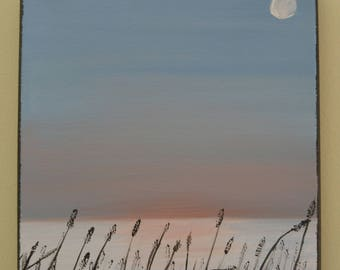 Sunset with Sea Oats