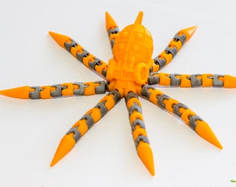 Octopus Bendable Toy - 3D Printed
