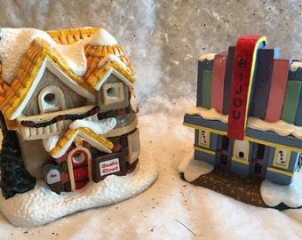 Christmas Village-Santa Clause House & Movie Theater