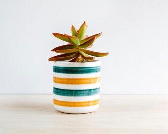 Ceramic planter, Ceramic plant pot, Succulent planter, Ceramics & pottery, Outdoor flower pots,  Pot small succulents, Small ceramic pots