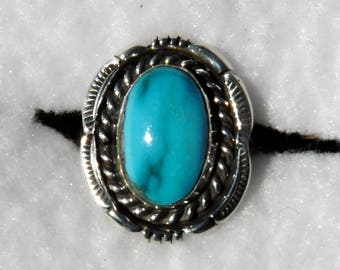 NATURAL ROYSTON TURQUOISE Ring   # 1132-tb