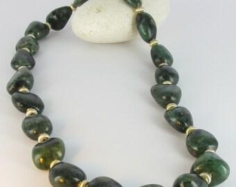 Emerald Necklace with 925/-silver, Emerald Neclace, Bottazzi Stony Lienz, kt132